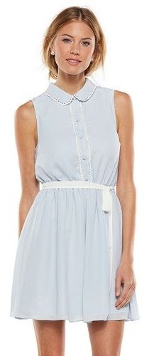 LC Lauren Conrad Picot-Trim Shirt Dress - Women's