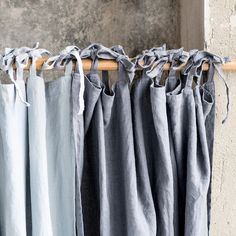 Dark grey/ graphite. Washed linen curtains/ linen drapes in