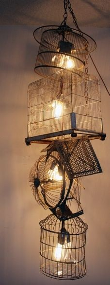 """wire birdcage chandelier"", pinned by Ton van der Veer"