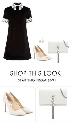 """Sem título #3025"" by mprocedi ❤ liked on Polyvore featuring Jimmy Choo, macgraw and Yves Saint Laurent"