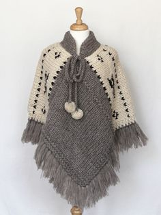Poncho - Natural                                                                                                                                                                                 Mais