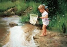 paintings of fishing | little-girl-fishing-painting