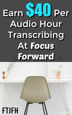 Focus Forward is a reputable online company that hires transcribers to work at home in the United States only. Work From Home Companies, Online Work From Home, Work From Home Opportunities, Work From Home Moms, Ways To Earn Money, Earn Money From Home, Make Money Fast, Make Money Online, Online Income