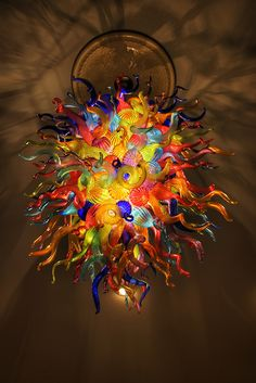 Chihuly chandelier lamp