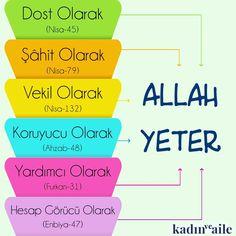 Dost olarak Allah yeter. #birayet