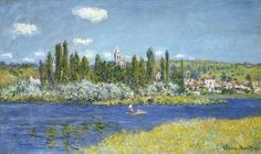 Learn more about Vetheuil 2 Claude Oscar Monet - oil artwork, painted by one of the most celebrated masters in the history of art. Monet Paintings, Impressionist Paintings, Landscape Paintings, Landscapes, Claude Monet, Pierre Auguste Renoir, Artist Monet, Art Japonais, Post Impressionism