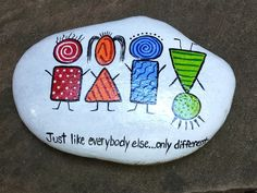 Rock Painting Supplies, Rock Painting Ideas Easy, Rock Painting Designs, Painting For Kids, Pebble Painting, Pebble Art, Stone Painting, Stone Crafts, Rock Crafts