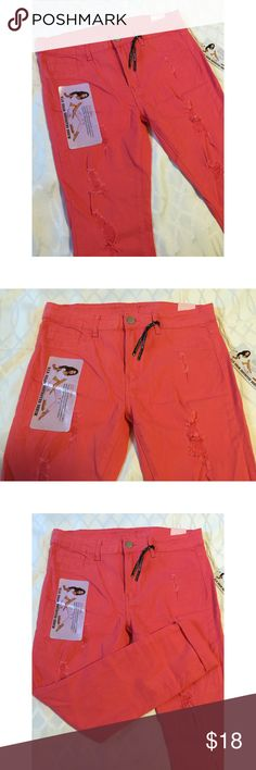 NWT V.I.P. coral Pink Jeans Size 13/14 New with tags! Coral pink Jeans by V.I.P size 13/14 V.I.P Jeans