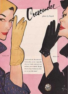 Rene Gruau for Crescendo 1954