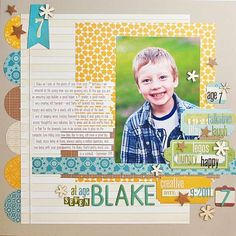 Scrapbook layout with a school picture