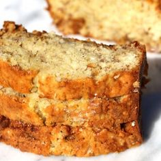 This moist banana bread with sour cream  is so delicious.  The texture of the bread is soft, with a slightly crispy top.