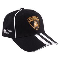 Official Lamborghini Merchandise  Adult 6 panel construction cap available Black.  This is a high quality piece of teamwear from the Lamborghini Super Trofeo championship series.  Features embroidered Lamborghini and Super Trofeo logos on the front and sides.  Complete with an adjustable strp with metal clasp.  A must have for any for any Lamborghini fan.