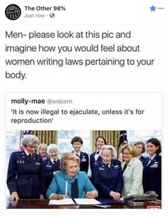 """Think about this. Really, truly think about this for a moment, and then stop trying to regulate birth control, stop abortion, and tax menstrual items as a """"luxury. Pray For Venezuela, Intersectional Feminism, Patriarchy, Equal Rights, Faith In Humanity, Social Justice, Memes, In This World, Equality"""