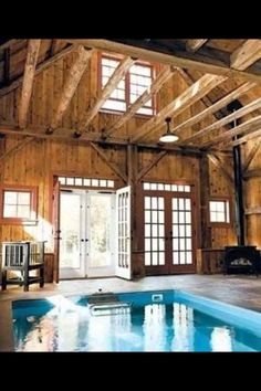 Indoor pool barn. I want this for my house