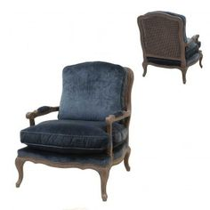 Four Hands Irondale Boutique Accent Chair in Cut Blue Pile