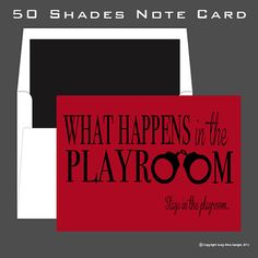 50 Shades of Grey Inspired Note Card by sassyalice on Etsy, $2.50