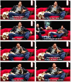 Jon Bernthal and his dogs