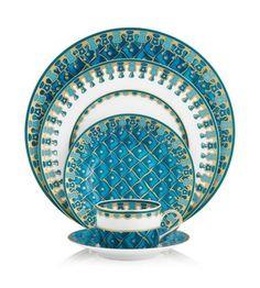 J. Seignolles - Petrouchka Turquoise Five Piece Place Setting