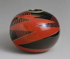 Vase, ca. 1925 Jean Dunand (French, born Switzerland, 1877–1942). Lacquered Metal Art Deco Vase. @Deidré Wallace