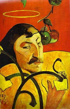 Paul Gauguin, 'Self-portrait', 1889 oil on wood overall: 79.2 x 51.3 cm (31 3/16 x 20 3/16 in.) Chester Dale Collection