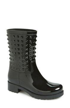 Valentino 'Rockstud' Rain Boot (Women) available at #Nordstrom