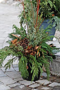 outdoor christmas greenery