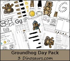 Free Groundhog Day Pack - Over 40 pages of activities plus a ToT Pack as well - 3Dinosaurs.com