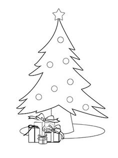 christmas tree coloring page - Coloring Pages Toddlers