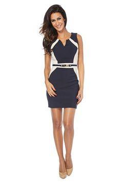 Venta S... with Swarovski / Vestido Fashion Azul Marino y Blanco, 29€ en divinitycollection.es