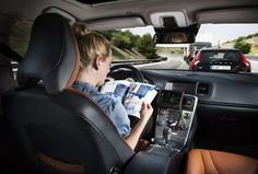 #Volvo are developing self drive cars giving you the ability to send text messages or read a book while the car is driven by itself. Would you be comfortable driving a self-drive car?