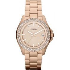 Ik vond dit op Beslist.nl: Fossil Ladies Retro Traveller Dames Horloge Am4454