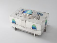 "** Archibald Knox (Manx, 1864-1933), ""Cymric"" Silver and Enameled Box."