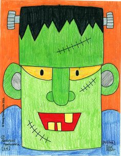 Frankenstein Art! #art #halloween #spooky #kids #children