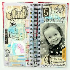 Mixed Media Journal by Madga. Love!!