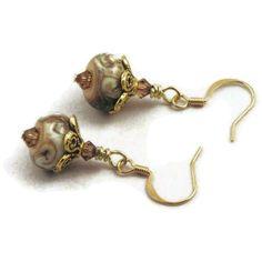 Handmade lampwork earrings by MiSuenos on Etsy, $15.00