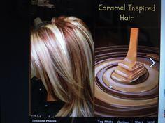 Caramel hair color. Love this!