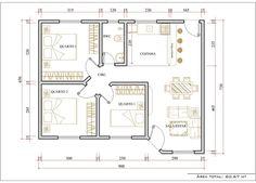 Modelos De Plantas De Casa 3 Quartos