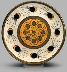 Ceramic plate by Andre Methey (1871---1921), France