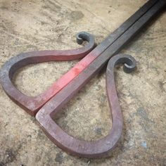 Pair of dropbolts for our gate. #forged #blacksmithing #skills...