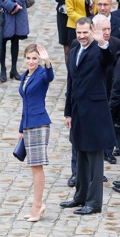 King Felipe VI and Queen Letizia of Spain visit France 3/23/2015