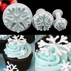 3D #Snowflake #Fondant Cake Plunger | Sugarcraft Mold Cutter #Baking Decorating Tool