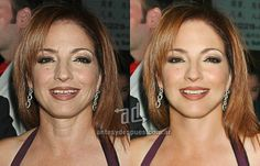 Gloria Estefan Photoshop Makeover - the before and after of celebrity retouching and airbrushing ... for REAL makeovers for REAL women contact www.stylecreation.com.au !