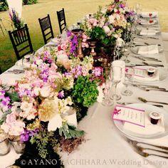 Hawaii,Sunset Ranch Wedding_ハワイウエディング_produced by AYANO TACHIHARA Wedding Design 装花、テーブルデコレーション