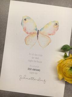 """Print """"Schmetterling"""" - Illustration von TIWAdesign - veredelt mit Metallfarbe Kupfer ... erhältlich auf www.herz-an-herz.at Place Cards, Place Card Holders, Butterfly Illustration, Paint Metal, Diy Home Crafts, Copper, Heart"""
