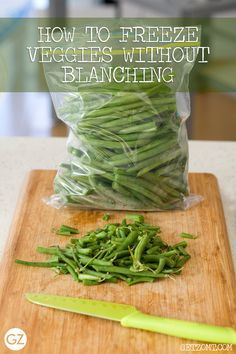GET ZOMT!: HOW TO FREEZE FRESH RAW VEGETABLES WITHOUT BLANCHING IN 3 EASY STEPS