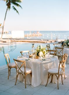 Magical Key West Wedding at The Southernmost House Beach House Wedding Reception, Beach Wedding Decorations, Wedding Table, Pool Wedding, Italy Wedding, Garden Wedding, Dream Wedding, Ballard Designs, Small Beach Weddings