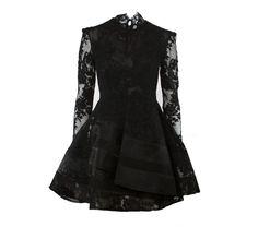Cacia short black lace dress- Alex Perry