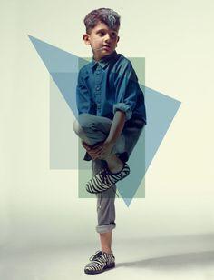 Shirt Wolf and Rita, jeans Fendi, shoes Florens, fashion from Papier Mache magazine