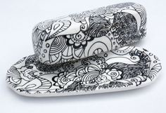 butter dish - bold graphic