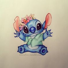 Cute Disney Drawing - STICH My fave <3